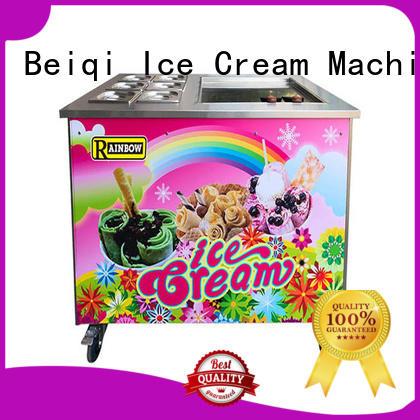 BEIQI silver Fried Ice Cream making Machine ODM For Restaurant