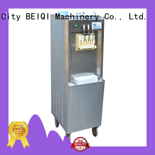 BEIQI silver soft serve ice cream machine for wholesale Snack food factory