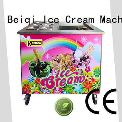 BEIQI Double Pan Fried Ice Cream Maker customization Snack food factory