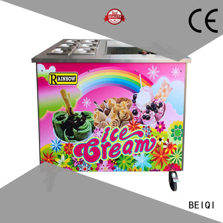 portable Fried Ice Cream making Machine Double Pan buy now For Restaurant